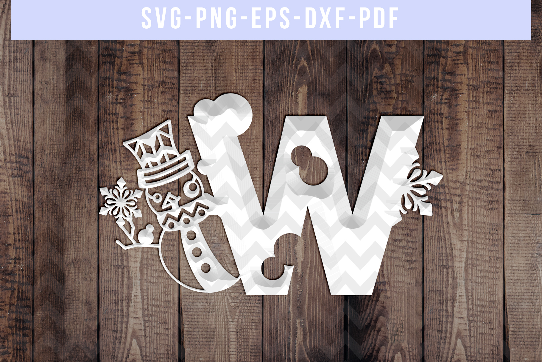 Snowman Font W Paper Cut Template, Winter Cutting SVG, DXF example image 2