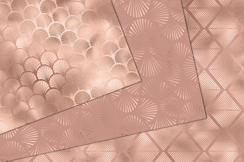 Rose Gold Art Deco Digital Paper example image 2