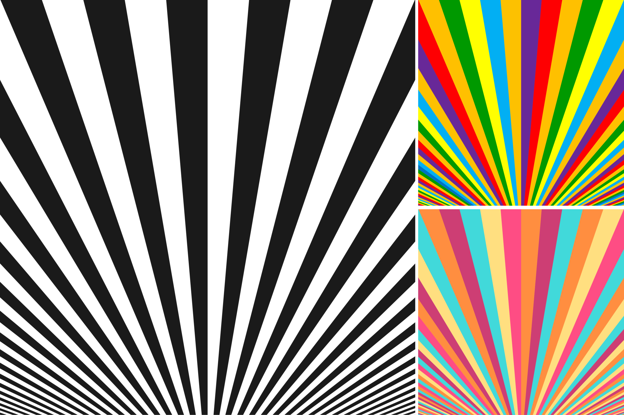 Collection of striped backgrounds. example image 6