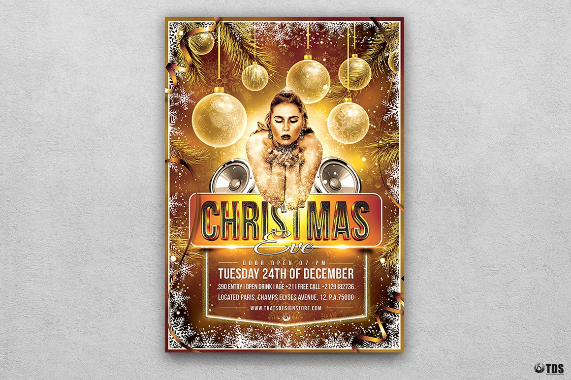 Christmas Eve Flyer Template V4 example image 1