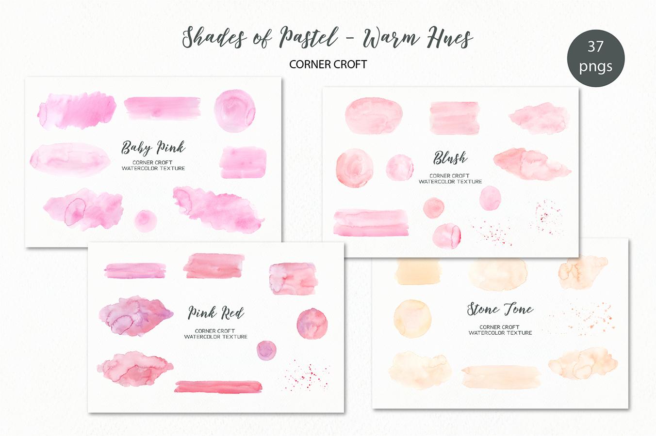 Watercolor texture shades of pastel warm hues example image 1