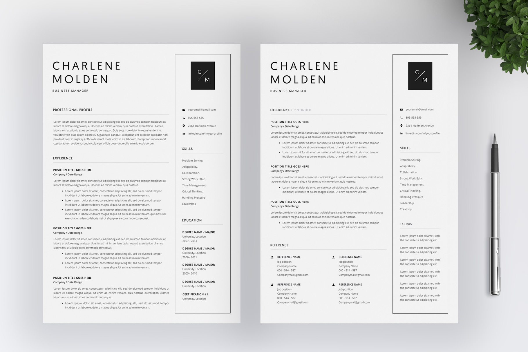 Creative Resume Template   Cover Letter example image 3