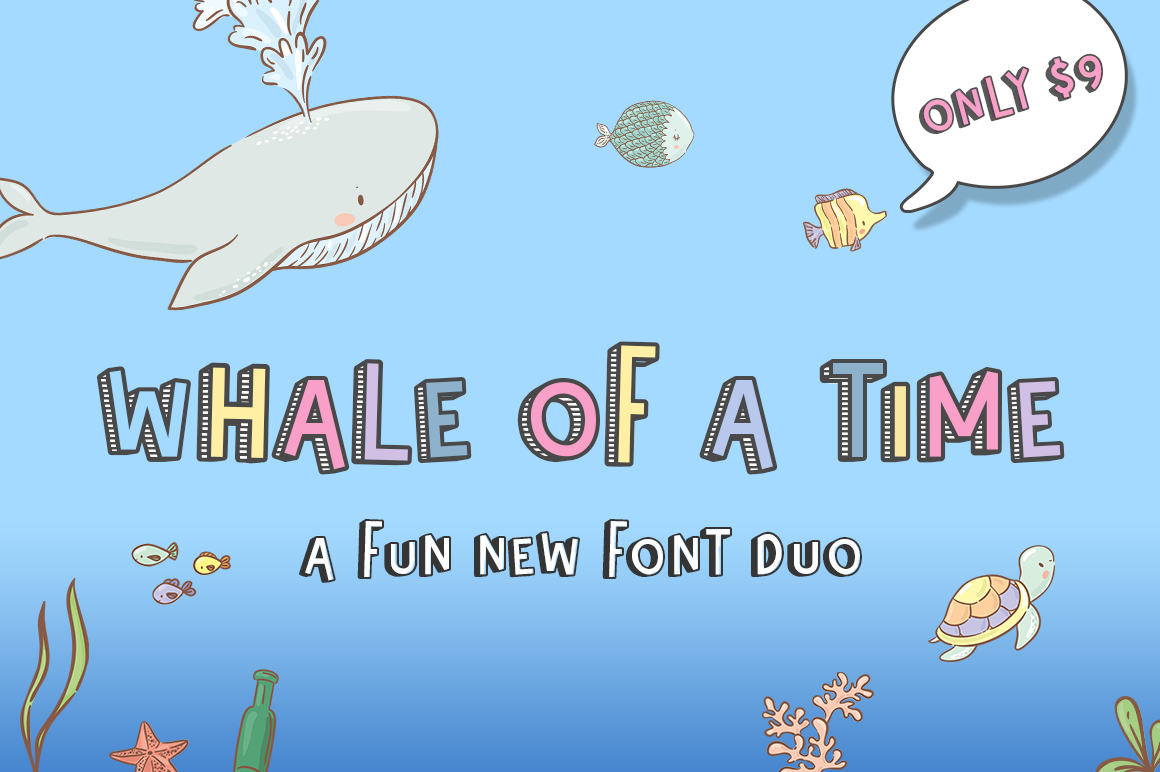 Whale of a Time Font Duo example image 1