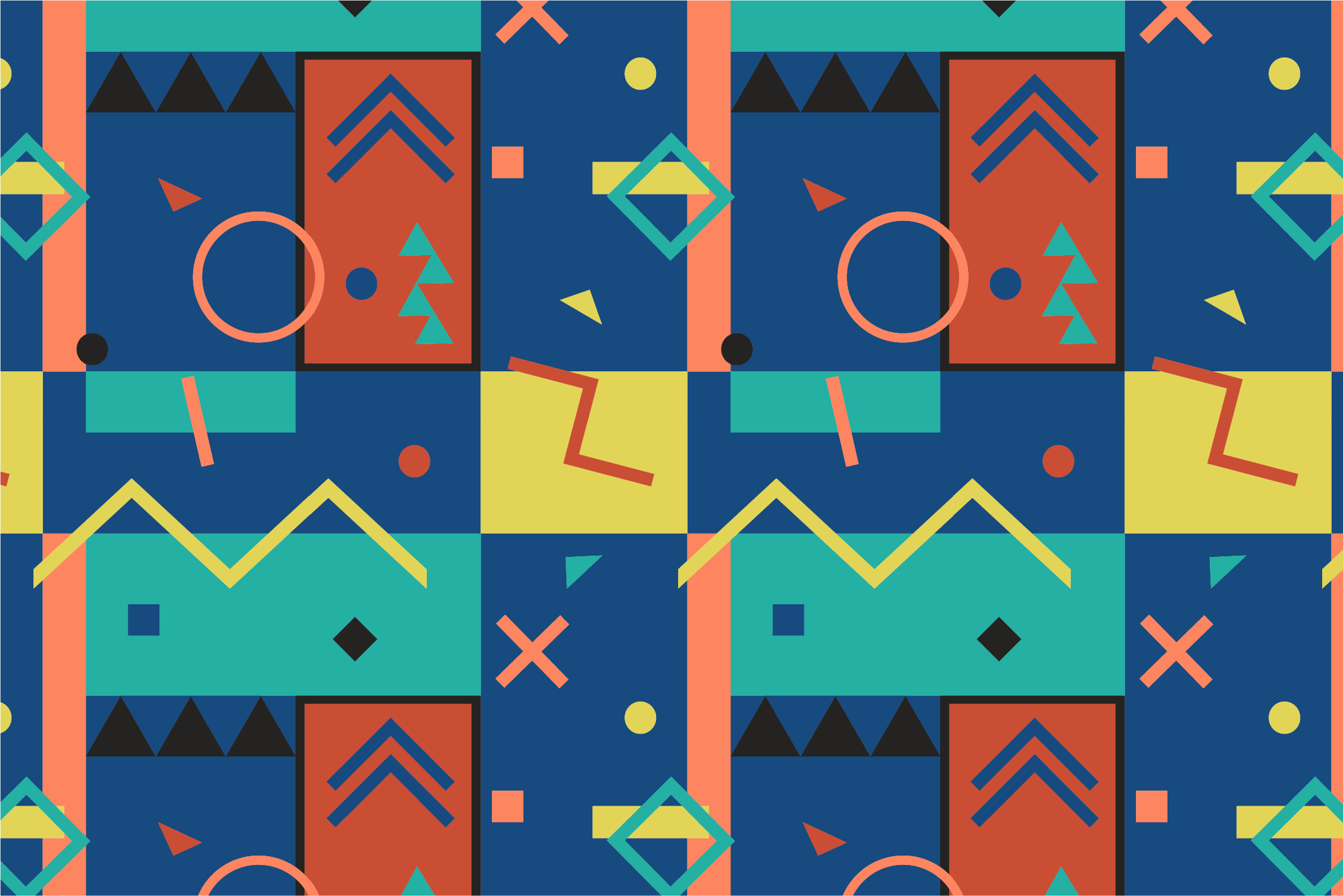 Memphis seamless patterns. example image 5