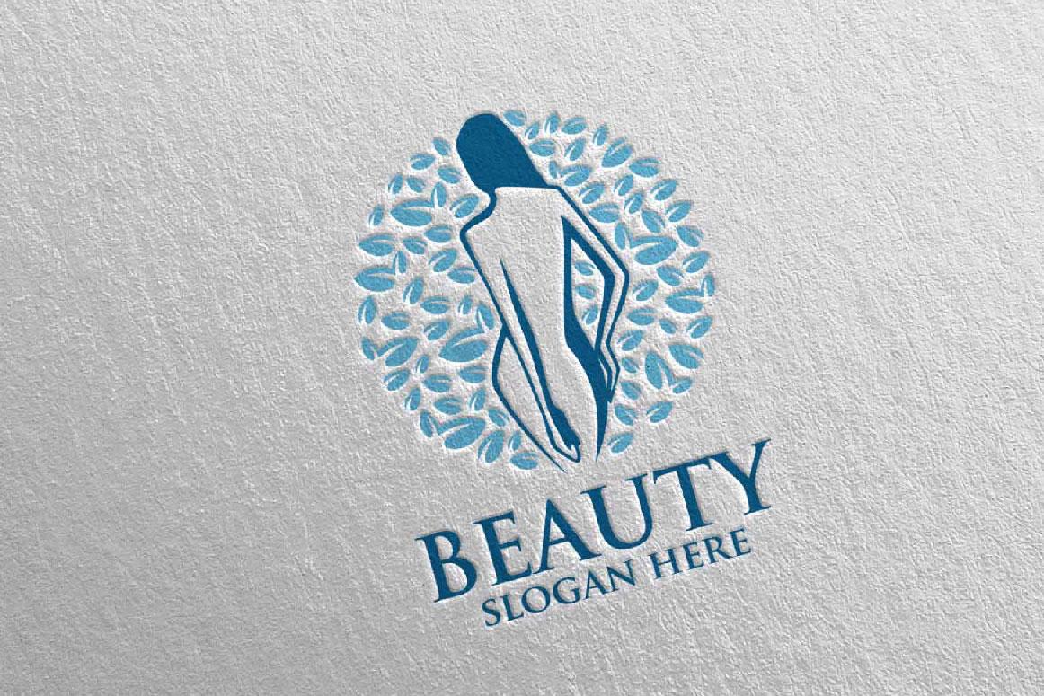 Natural Beauty, Yoga, Fitness, Massage Logo example image 2