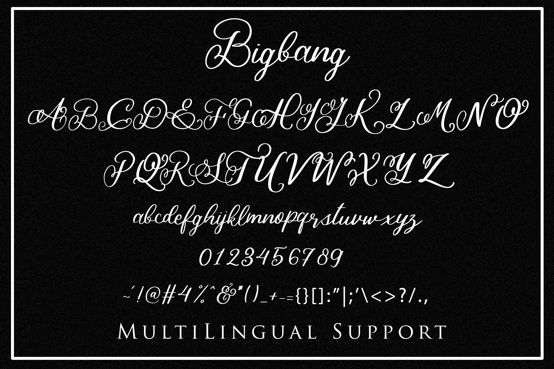 Bigbang - Handwritten Font example image 7