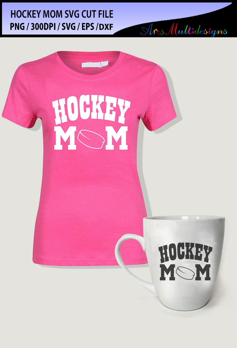 hockey mom Svg cut file / hockey mom vector example image 2