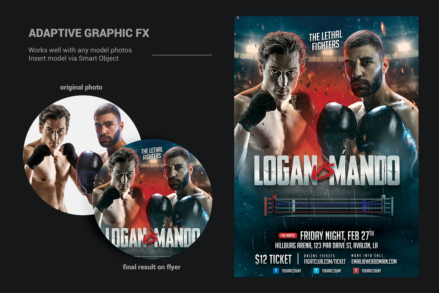 Boxing Flyer Template example image 4