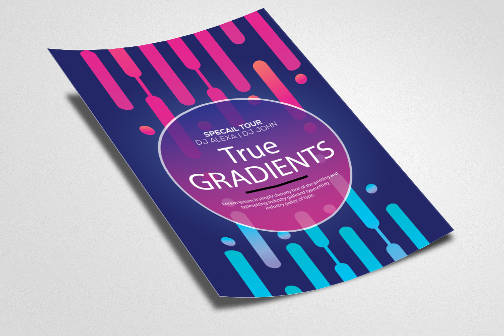 Gradient Electro Party Flyer Template example image 2