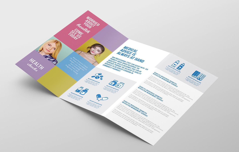 Modern Medical Tri-Fold Brochure Template example image 2