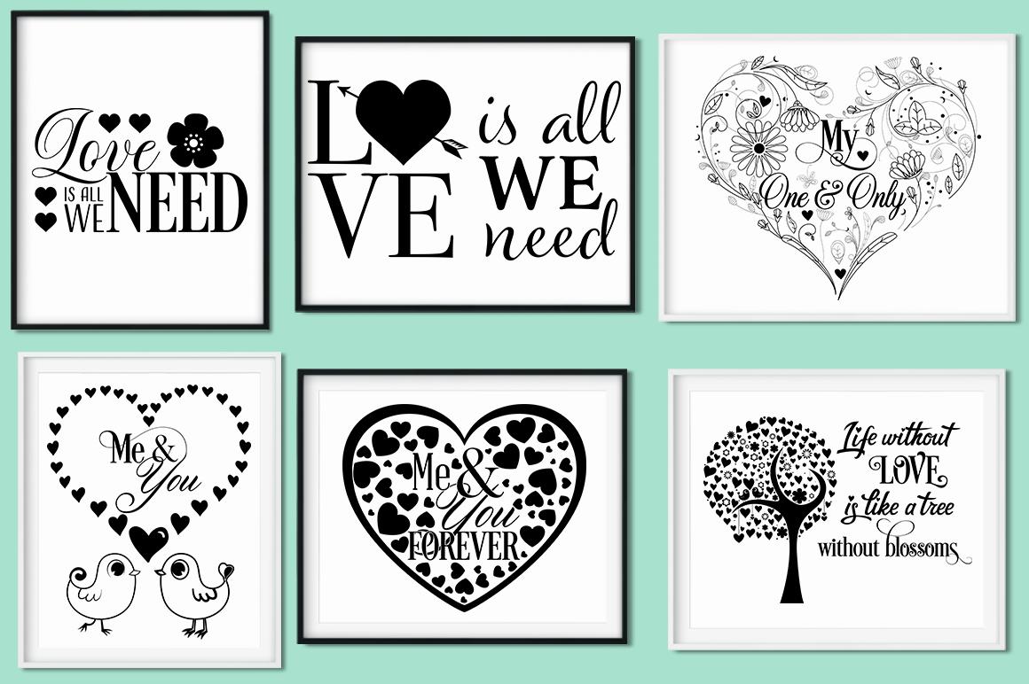 Love Quotes Bundle - Valentine SVG Cut Files example image 3