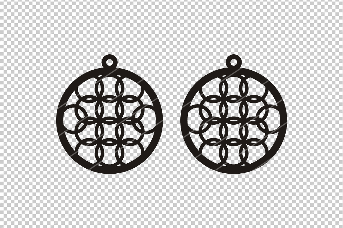 Round Earrings svg, Modern earrings, Jewelry svg,cricut file example image 2