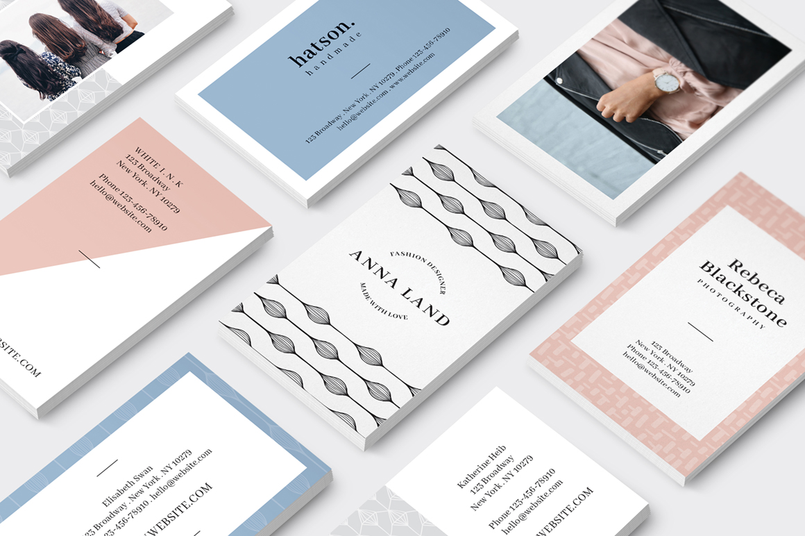 MALINA Business Cards + Logos + Pattern example image 3