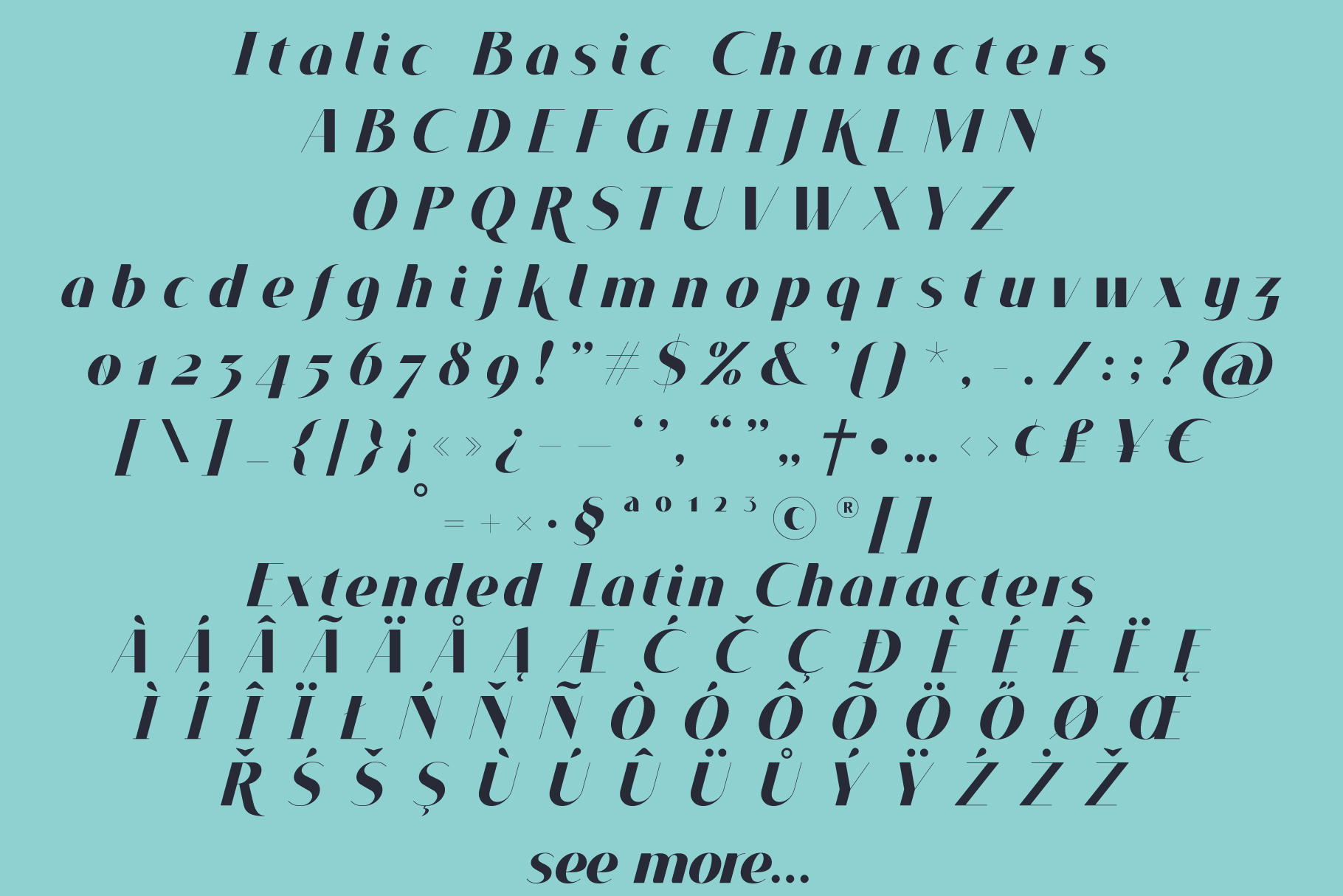 VOGUER Sans family example image 4