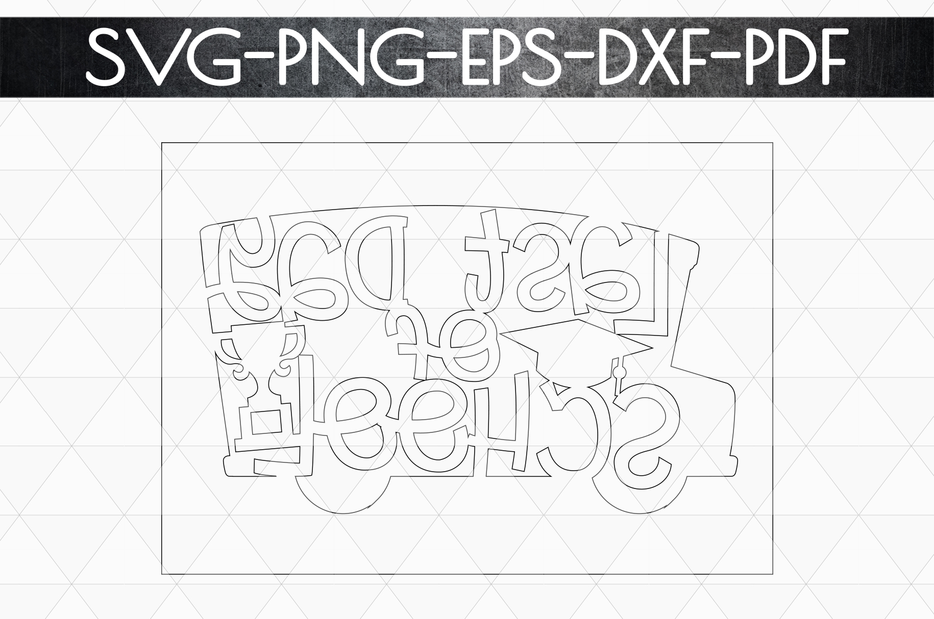 Last Day Of School Paper Cut Template, Summer SVG, PDF, DXF example image 6
