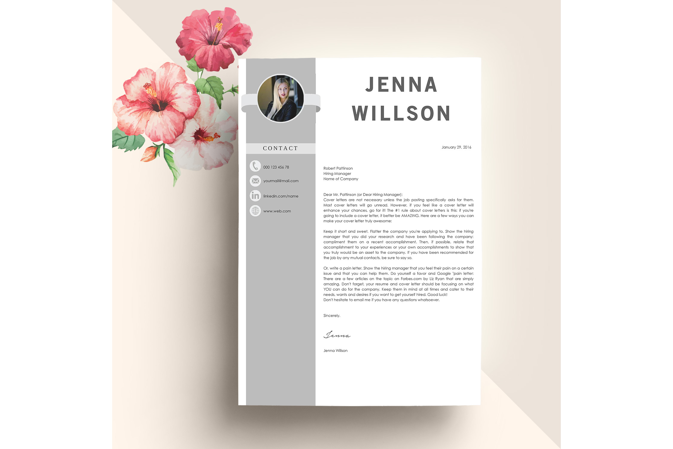 Professonal Resume Template Word example image 3
