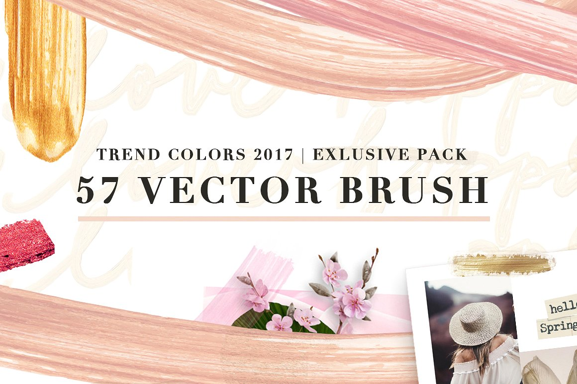 57 Vector Cream Brush - Trend colors example image 1