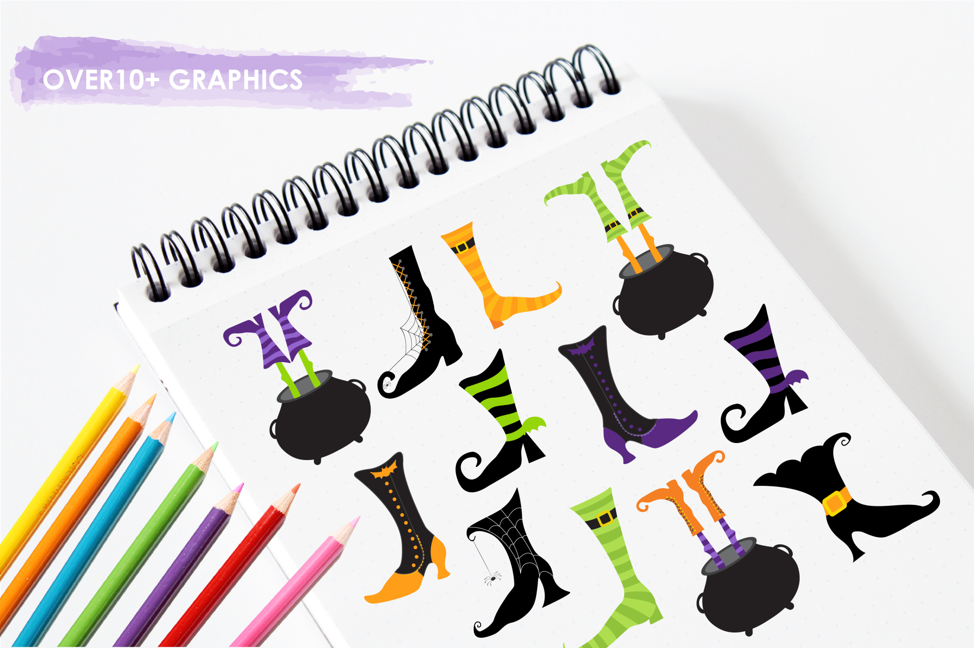 Witch Feet graphics and illustrations example image 3