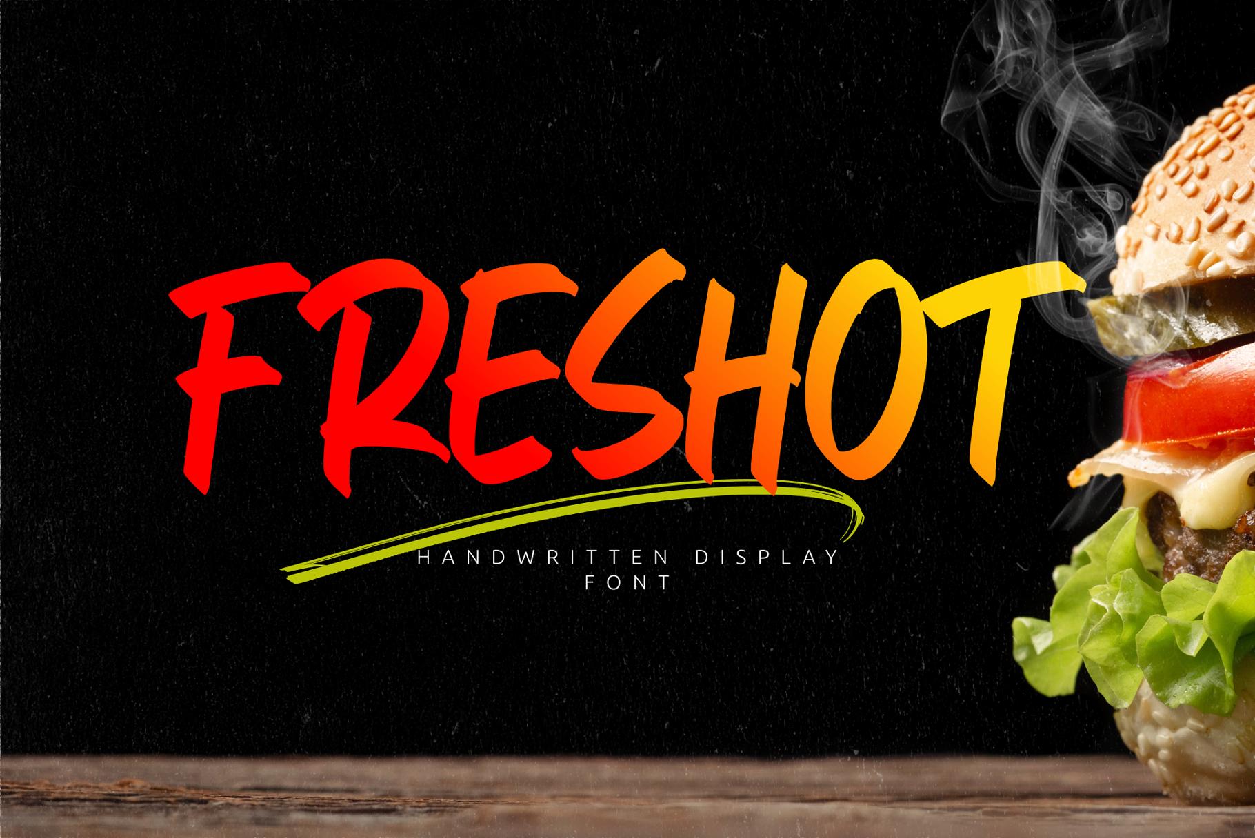 FresHot - Handwritten Display Font example image 1
