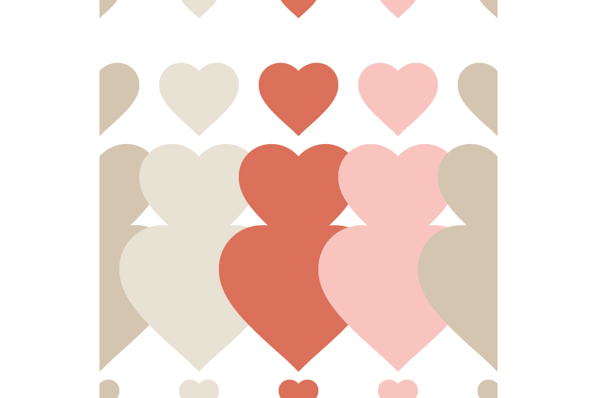 Set of 12 backgrounds with Hearts on Valentine's Day. example image 7