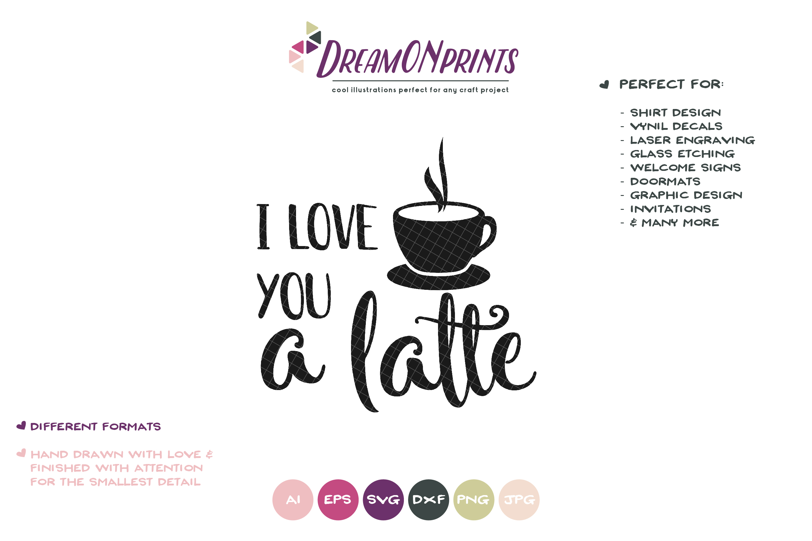 I Love You a Latte SVG - Kitchen SVG Cut Files example image 2