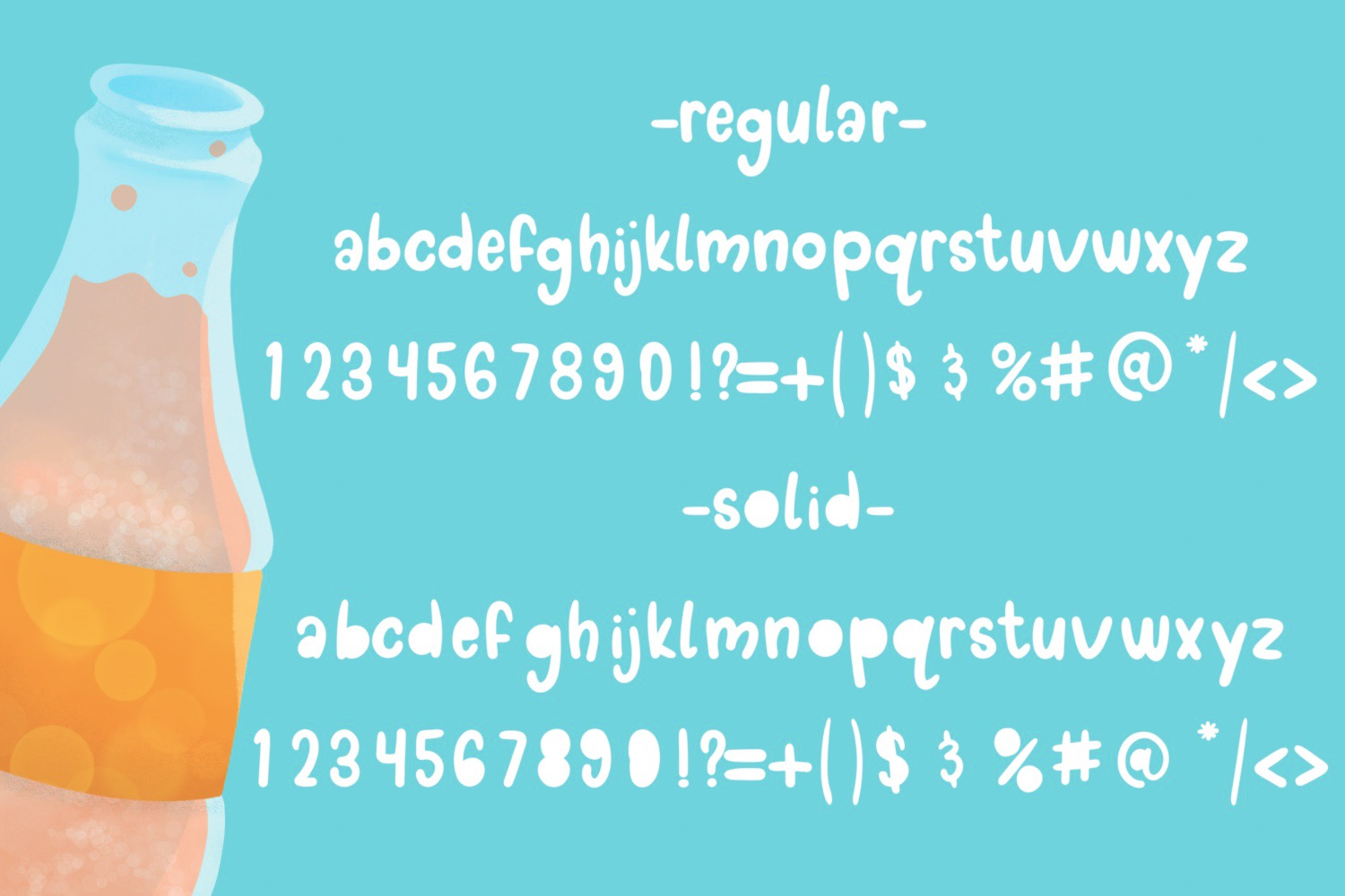 Doodle pop - a cute interchangeable lowercase font duo example image 6