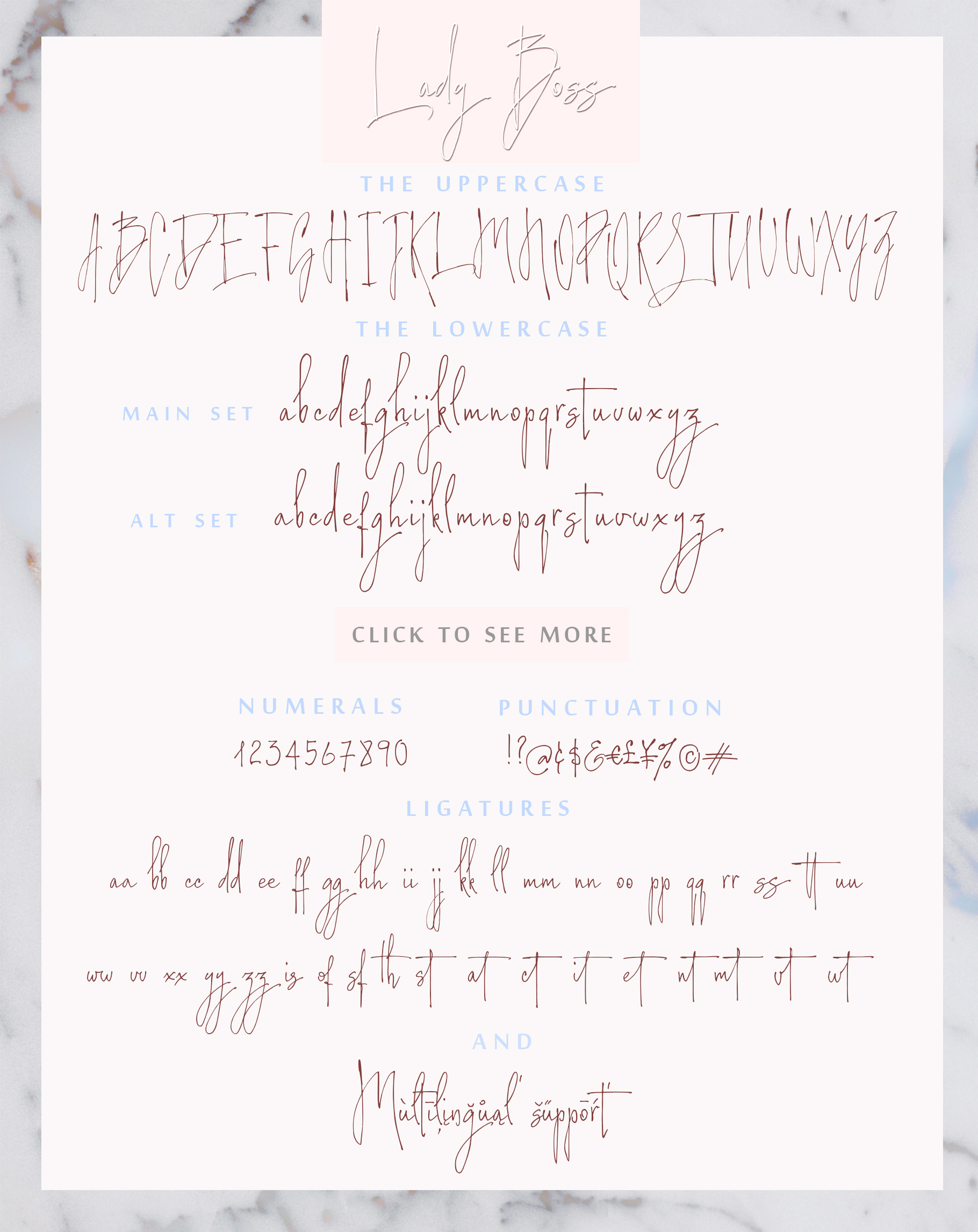 Lady Boss script font + Extras example image 14