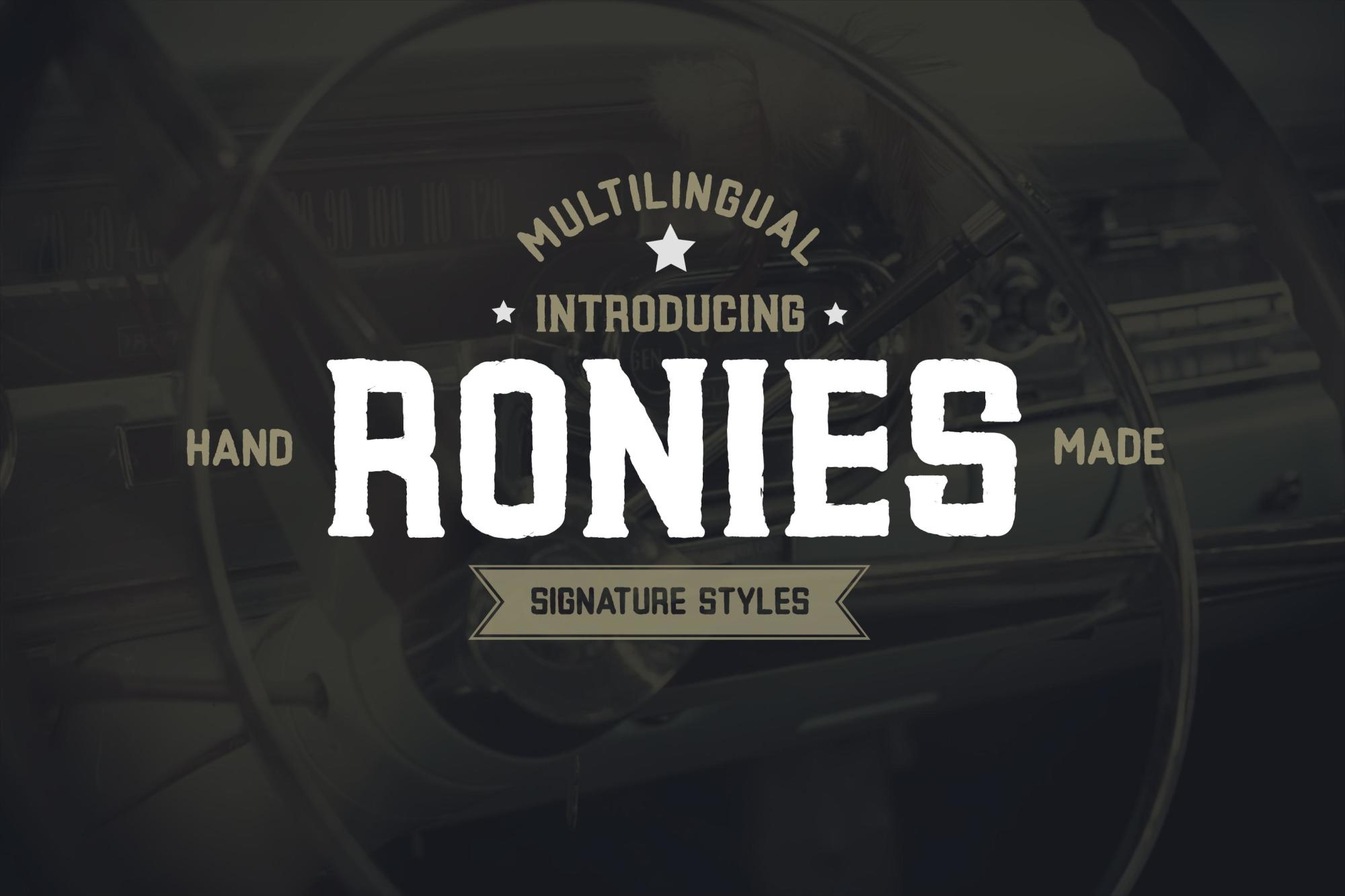 Ronies Vintage Font example image 1