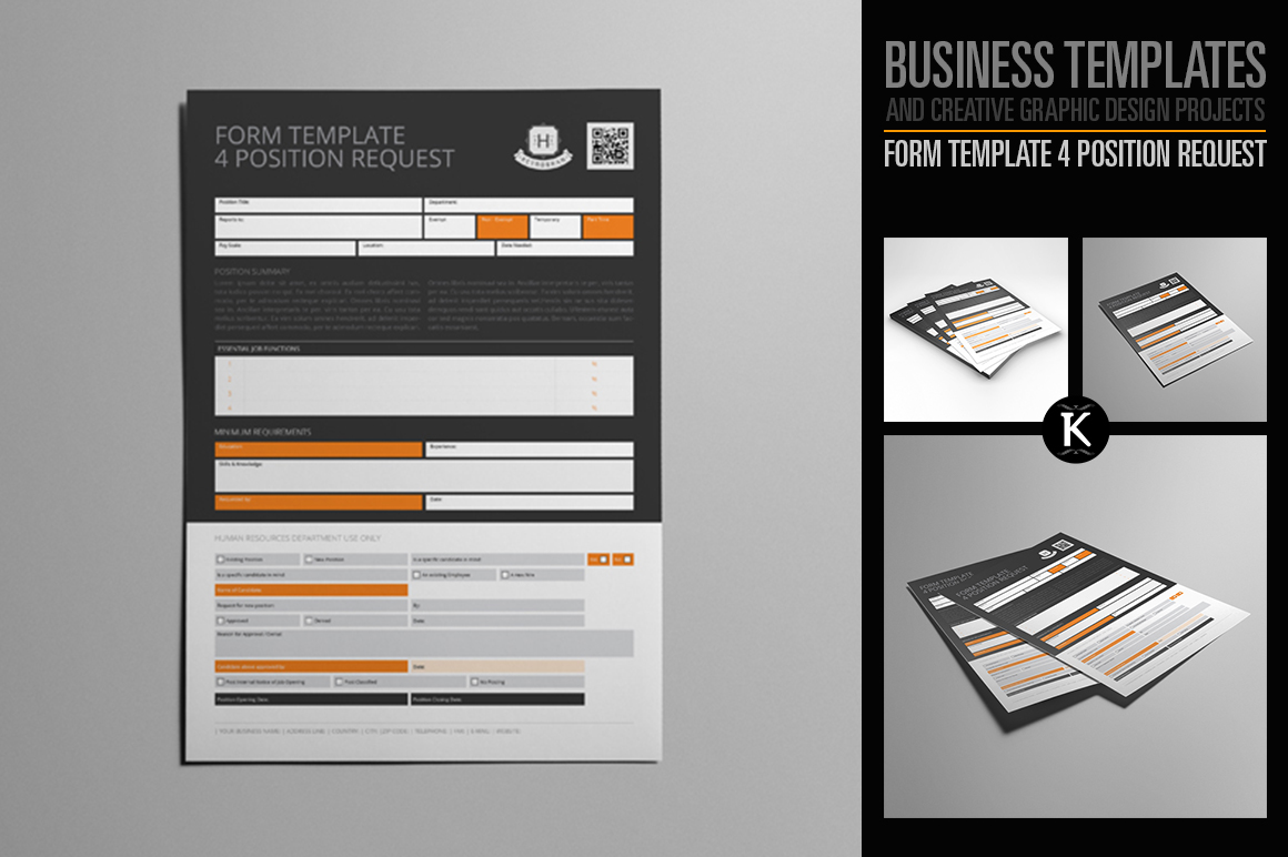 Form Template 4 Position Request example image 1