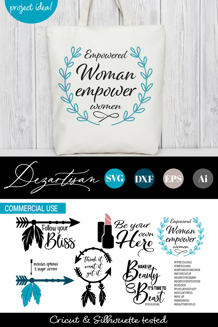 Empowered Woman SVG DXF cut file example image 2