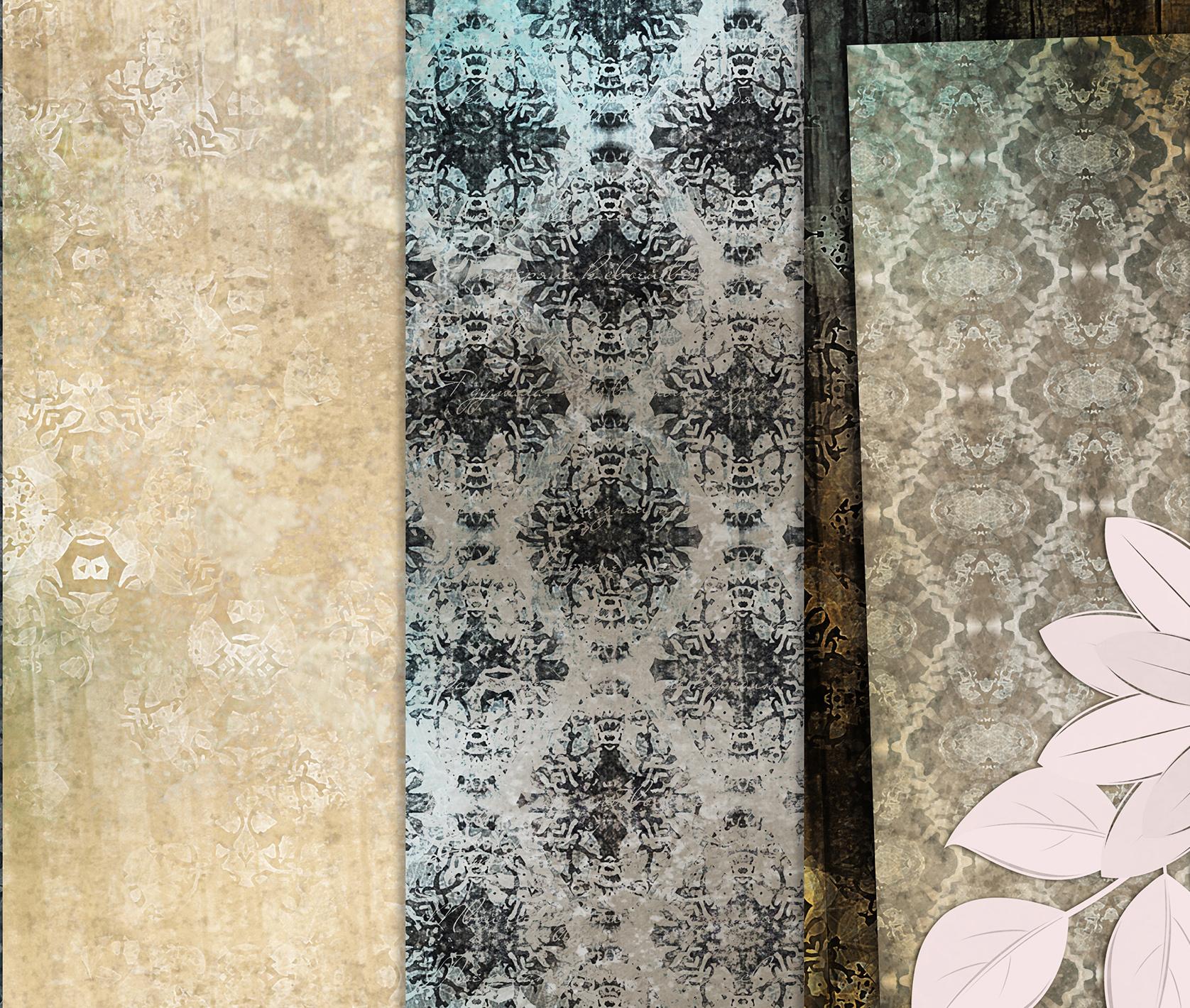 Beige-Blue Old Shabby Digital Backgrounds example image 4