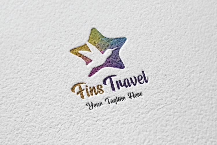Flying Dove, Travel Logo example image 2