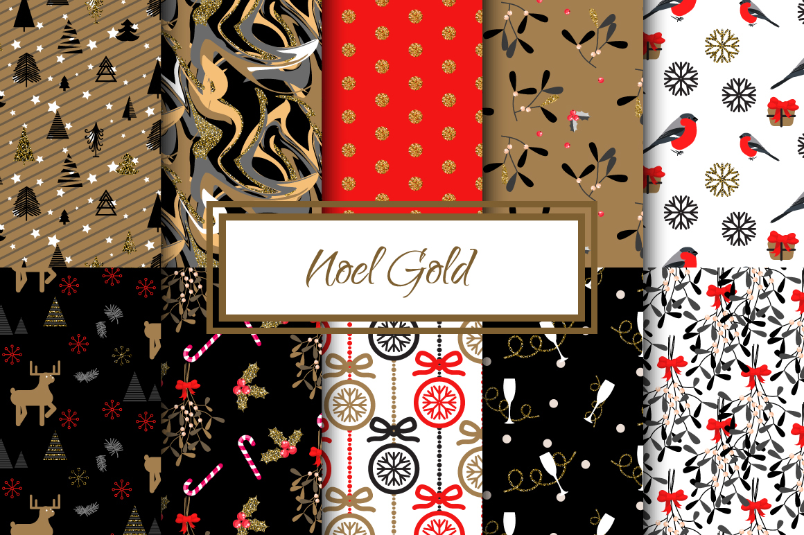 Noel Gold seamless paper example image 1