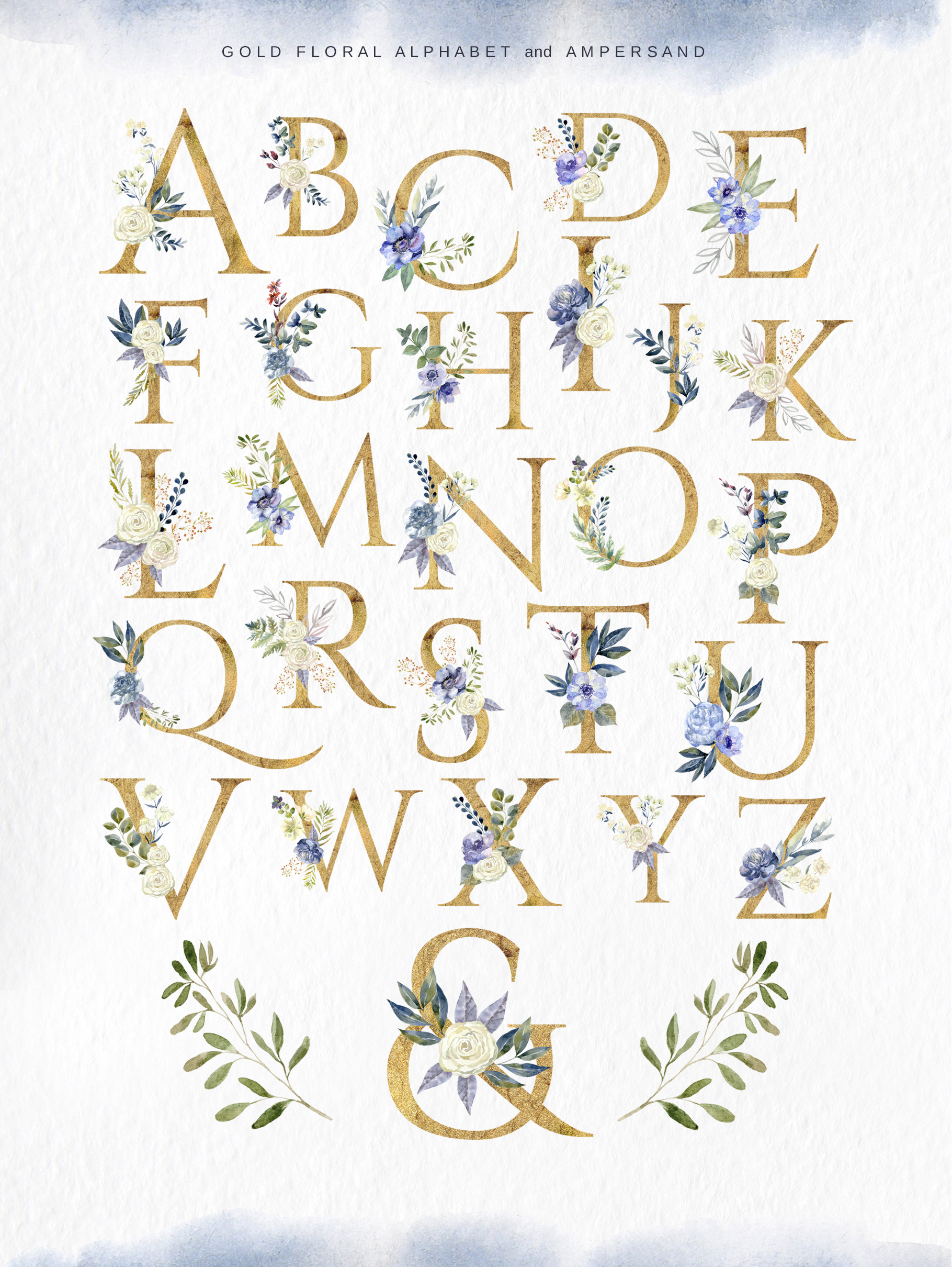 Floral Alphabets Collection. example image 9