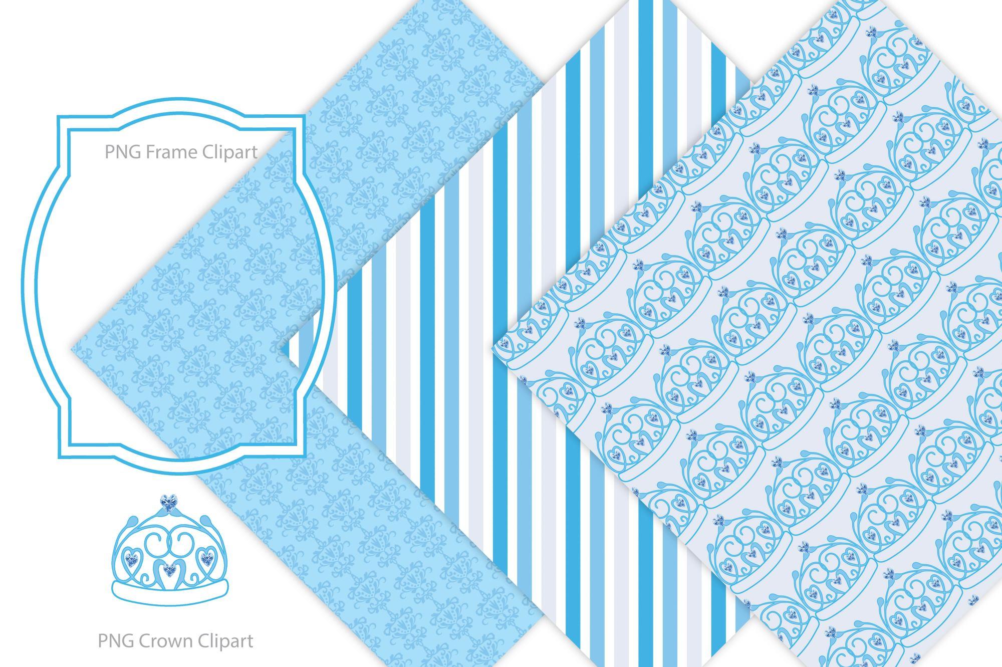 Royal Baby Digital Paper - Crown example image 4