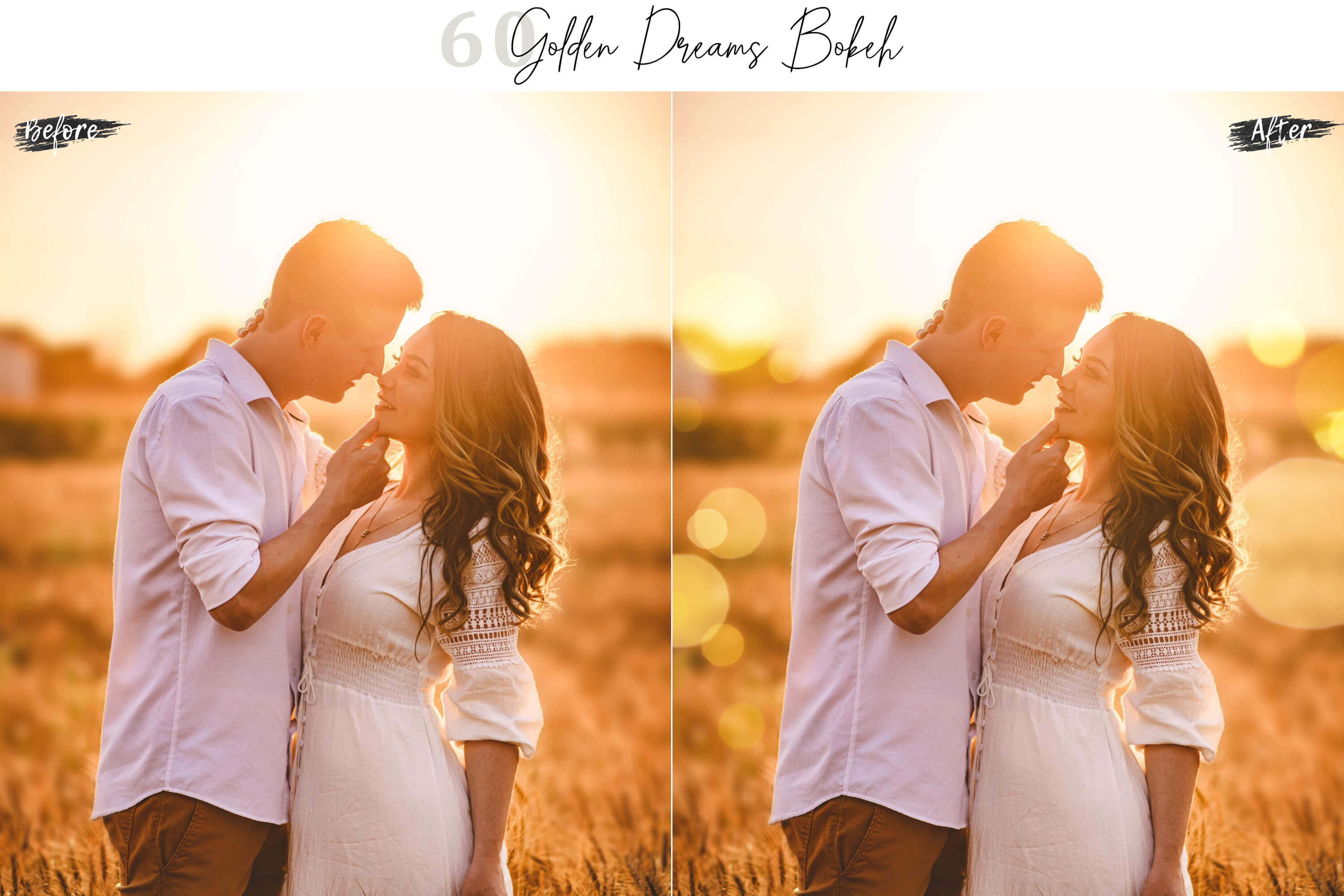 60 Golden Dreams Bokeh lights Effect Photo Overlay example image 3