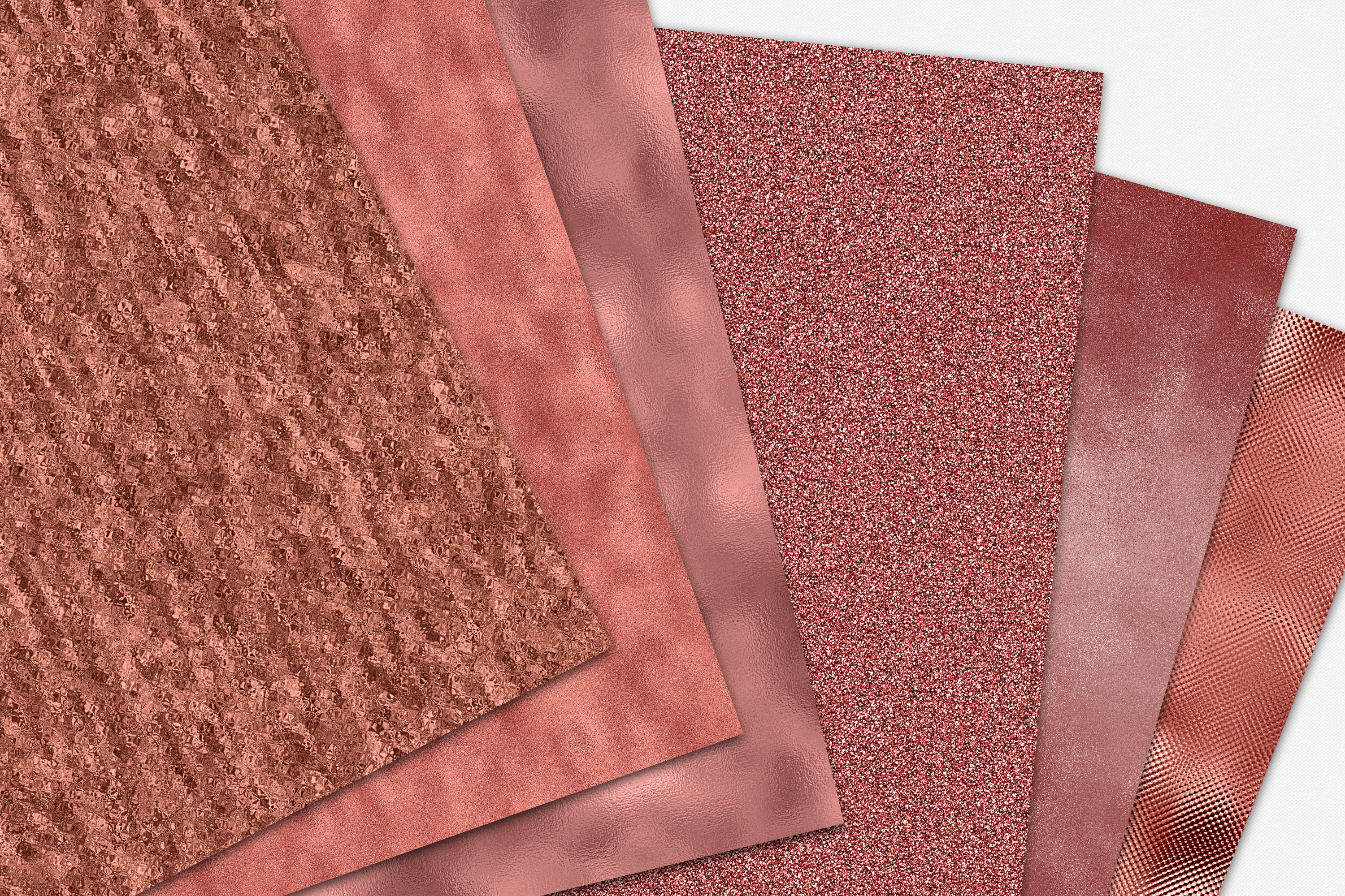 Seamless Rose Gold Digital Paper - 10 Metallic Foil Textures example image 6