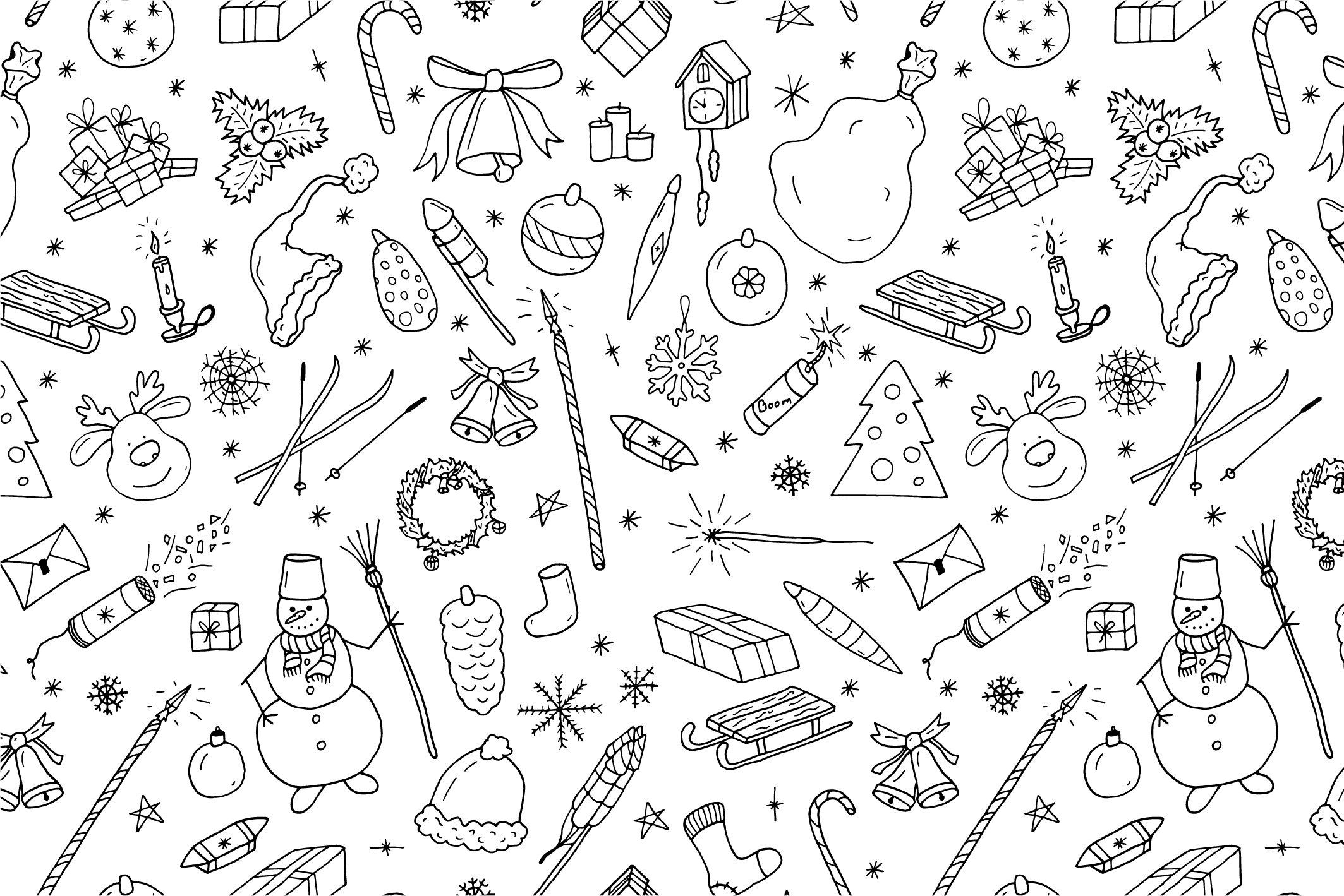 Christmas seamless patterns. example image 6
