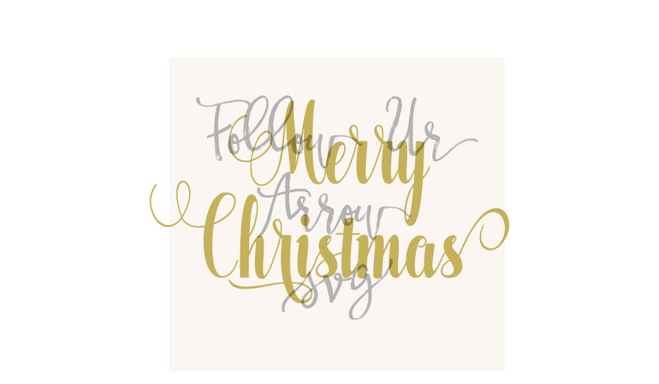 Merry Christmas Cursive Swirls Svg example image 2