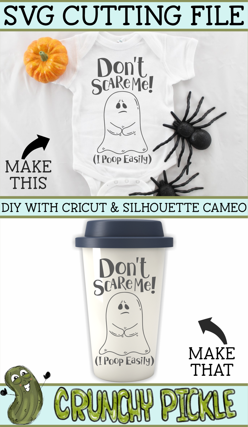Don't Scare Me I poop Easily Ghost Halloween SVG example image 4