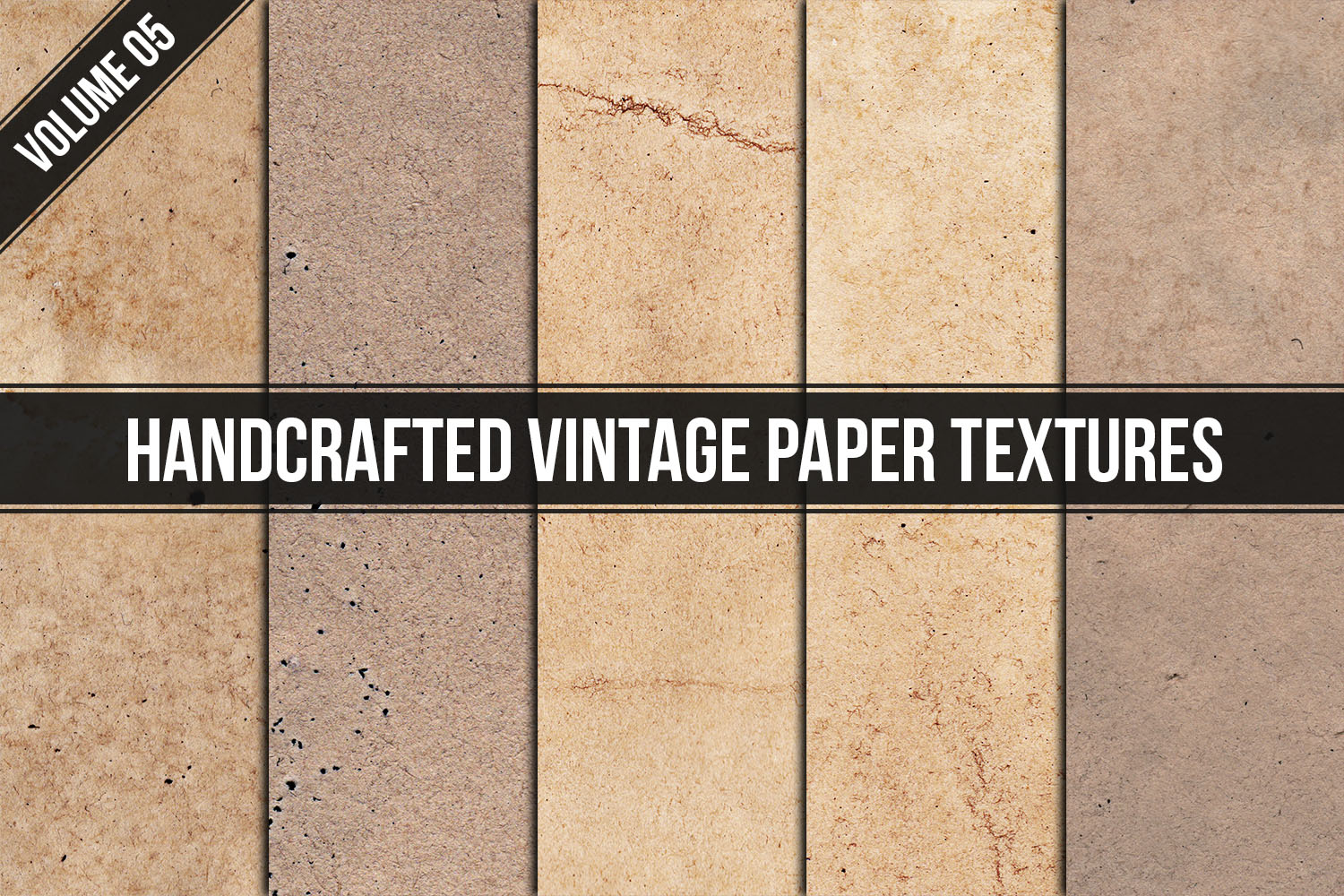 Handcrafted Vintage Paper Textures Vol. 05 example image 1