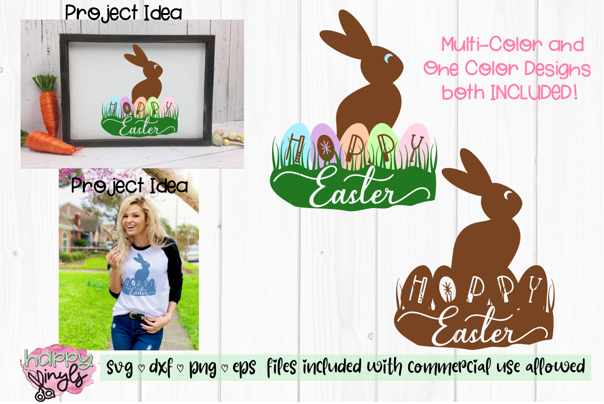 Hoppy Easter Chocolate Bunny - An Easter SVG example image 1