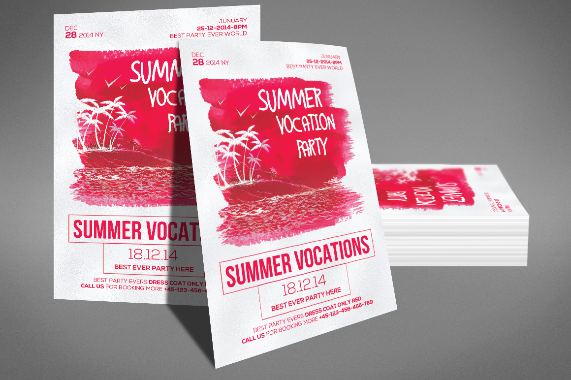 Summer Vocation Party Flyer example image 3