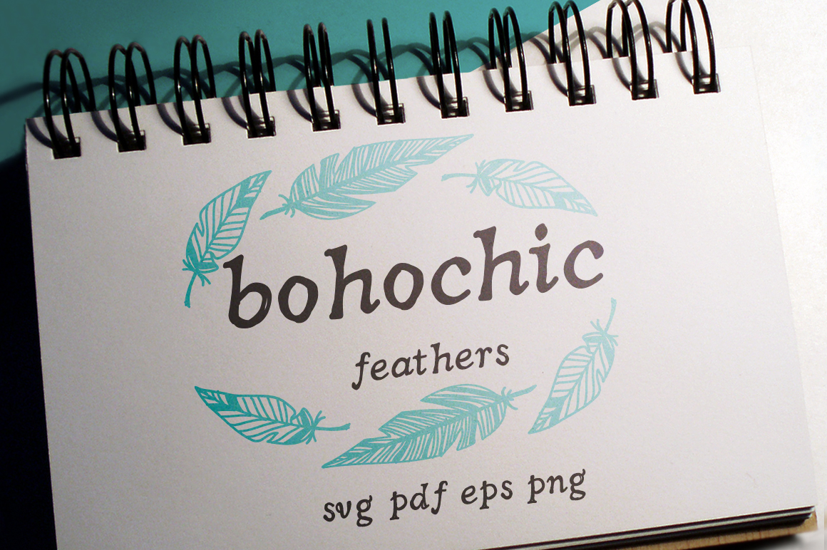Boho-Chic Feathers Vectors example image 1