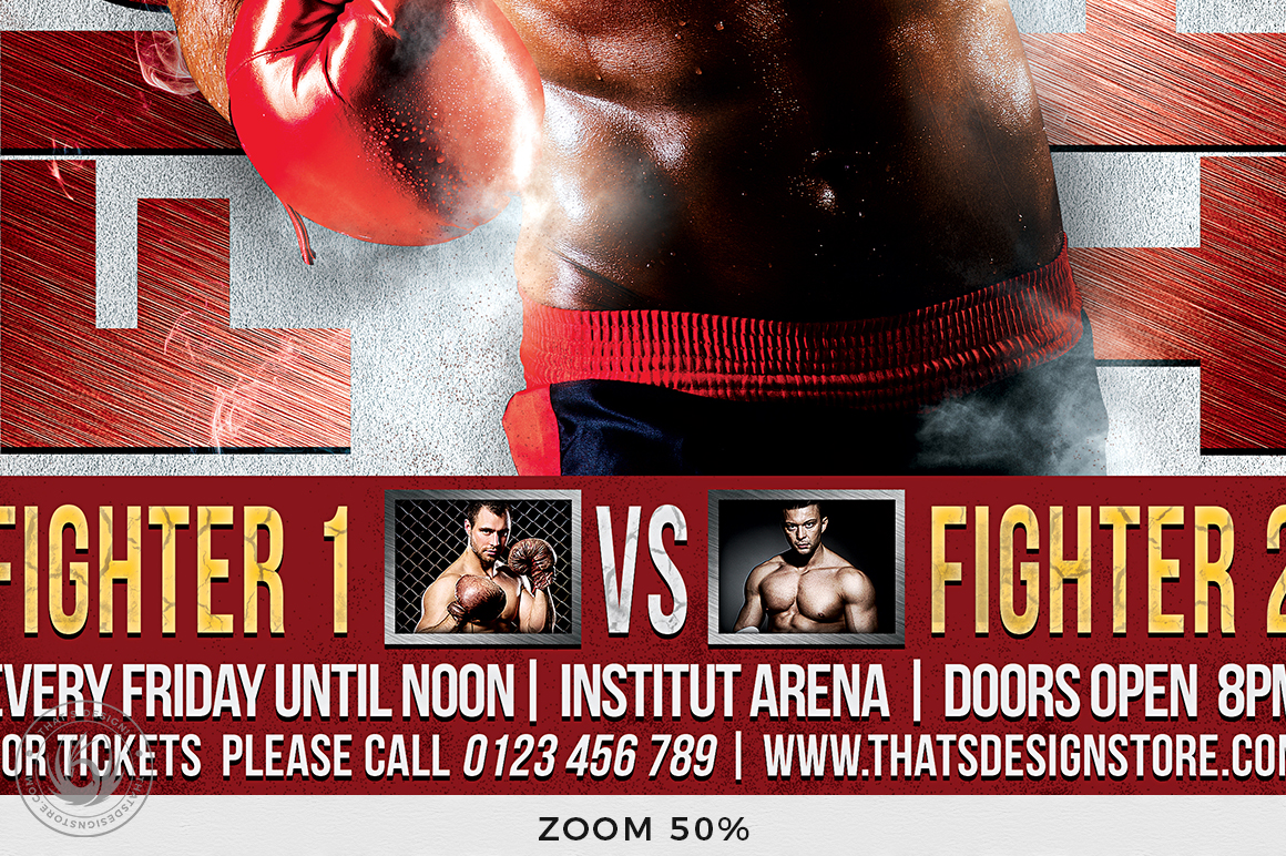 Fight Night Flyer Template V3 example image 8