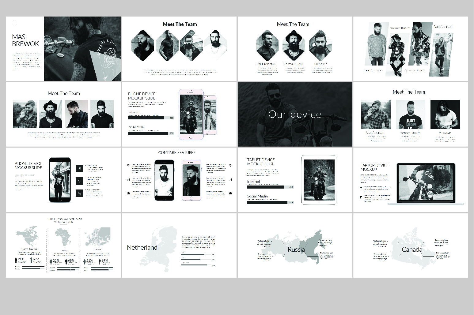 Hipsteria Business Keynote Template example image 4