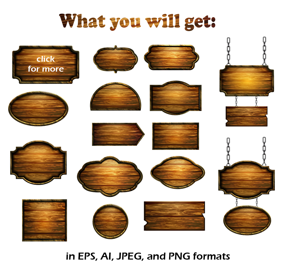 Vector Wooden Boards example image 2