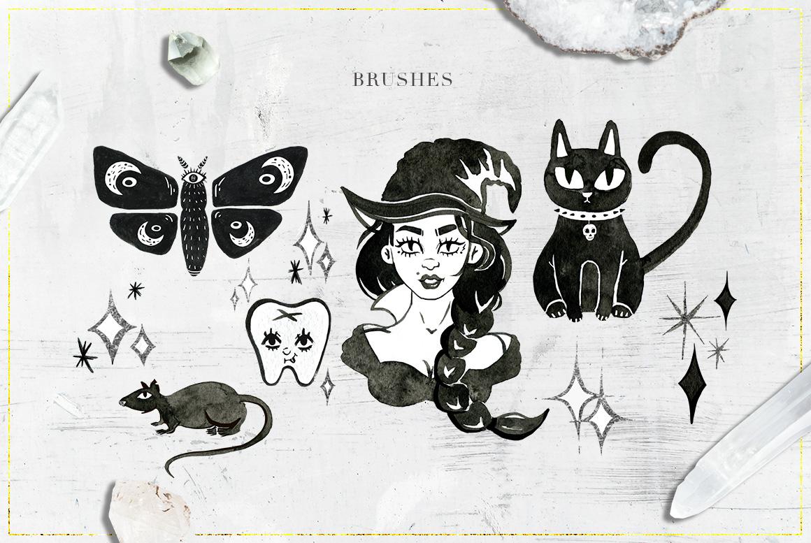 75 Witchcraft Photoshop Brushes example image 4