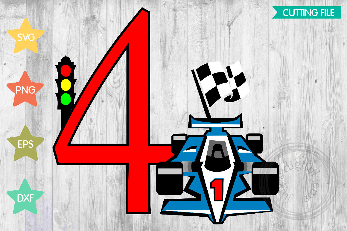 Racing Birthday 4th, by Julies Homemade Jems example image 1
