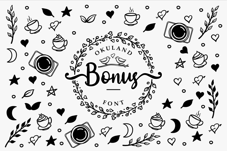 Okuland // Luxury Script Font example image 7
